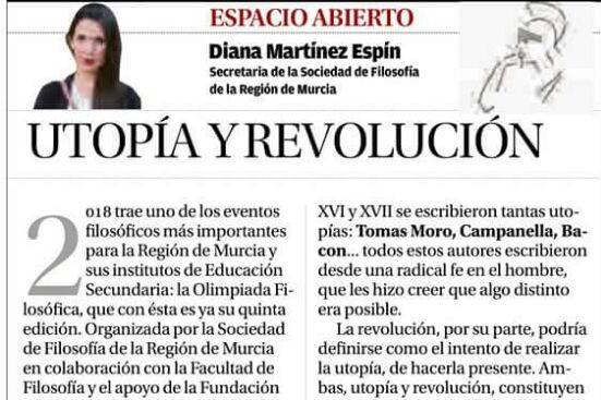 Diana Martínez Espín: «Utopía y revolución»