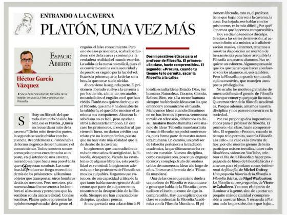 Héctor García Vázquez: «Platón, una vez más»