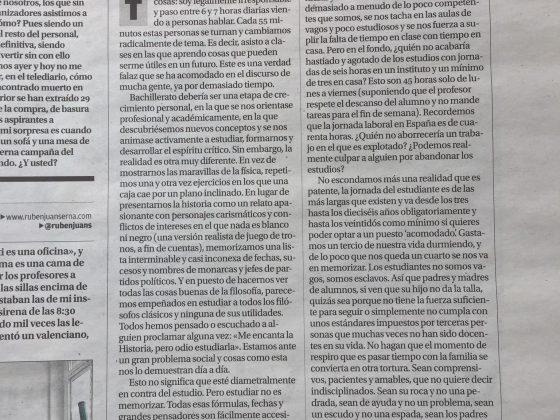Ignacio Garcerán: «De un sistema de educación»