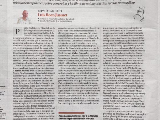 Luis Roca Jusmet: «Filosofía y autoayuda»