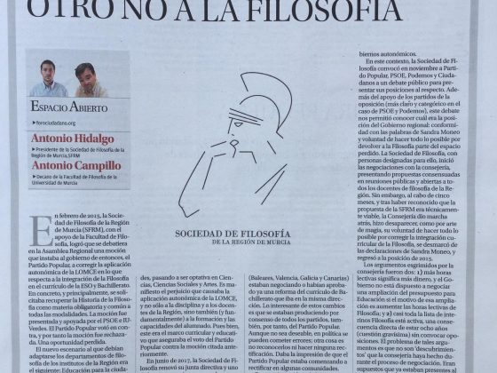 Antonio Campillo, Antonio Hidalgo: «Otro no a la Filosofía»