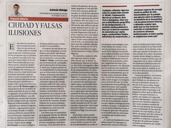 Antonio Hidalgo: «Ciudad y falsas ilusiones»