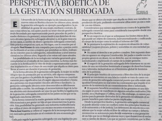 Diego José García Capilla: «Perspectiva bioética de la gestación subrogada»