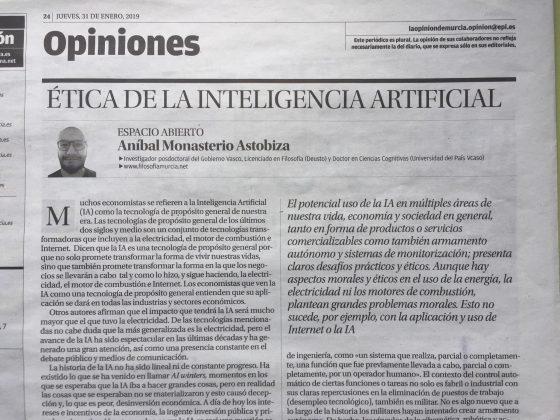 Aníbal Monasterio Astobiza: «Ética de la Inteligencia Artificial»