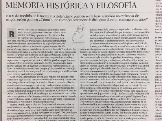 Salvador Cayuela Sánchez: «Memoria histórica y filosofía»
