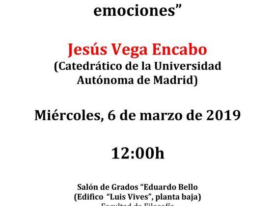 Conferencia en la Facultad de Filosofía: Jesús Vega Encabo