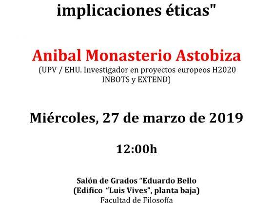 Conferencia de Anibal Monasterio en la Facultad de Filosofía