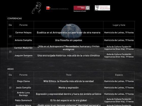 XVII SMFRM. Conferencias, ponentes, horarios y espacios.
