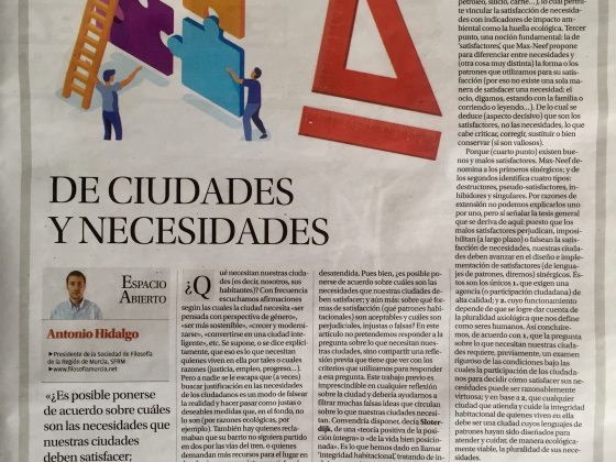 Antonio Hidalgo: «De ciudades y necesidades»